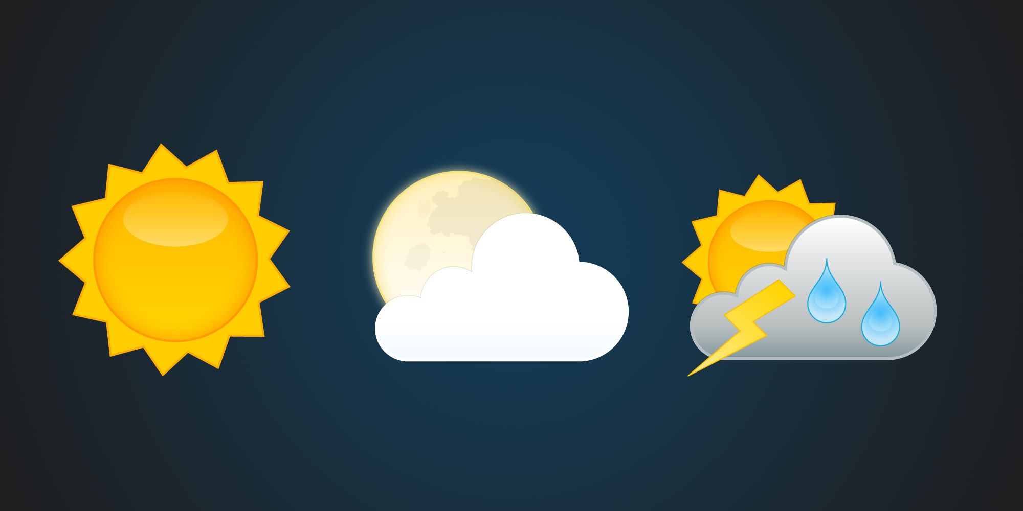 Weather Icons For Use With Yr Andreas Hellqvist